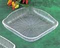 《日本製》なぎさ 角型(角大皿)【ガラス 皿】【ガラス プレート】【ハンドメイド】