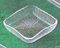 《日本製》なぎさ 角型(角中皿)【ガラス 皿】【ガラス プレート】【ハンドメイド】