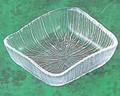 《日本製》なぎさ 角型(角小皿)【ガラス 皿】【ガラス プレート】【ハンドメイド】