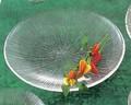 《日本製》なぎさ 丸型(大皿)【ガラス 皿】【ガラス 鉢】【ハンドメイド】【刺身皿】