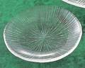 《日本製》なぎさ 丸型(小皿)【ガラス 皿】【ガラス 鉢】【ハンドメイド】