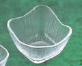 《日本製》なぎさ 角型(角中鉢)【ガラス 鉢】【ハンドメイド】