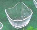 《日本製》なぎさ 角型(角小鉢)【ガラス 鉢】【ハンドメイド】