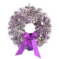 <<クリスマスリボンリース>>★■X'mas/Purple Pine & Ribbon リース S&M