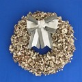 <<クリスマス>>★■X'mas/  Wood Chip リース w/Ribbon (Silver)<リース>
