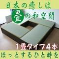 高床式ユニット畳セット(1畳タイプ4本セット)低ホルムアルデヒド・日本製