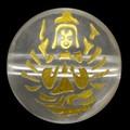 【天然石彫刻ビーズ】水晶 10mm (金彫り) 八大観音「千手観音」【天然石 パワーストーン】
