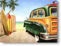 ★よりどり3点送料無料★アメリカン雑貨★看板★直輸入★ビーチサイドのウッディーワゴン