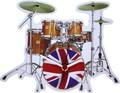 ◆英アソート対象商品◆【英国雑貨】Lark Rise Designs 壁掛け時計 Union Jack Drums(LRC28)