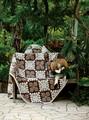 【直送OK】ハレイワ ブラウン マルチカバー ラグ 南国にいるようなデザインのハワイアン柄