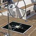 【直送可】【nautic 玄関マット】 North Star コンパス模様の刺繍がスタイリッシュなマリンマット