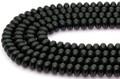 【天然石カットビーズ】オニキス ボタン型(カット無し) 5×8mm【天然石 パワーストーン】
