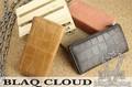 期間限定SALE★XBC-010018★BLAQ CLOUD/ブラック クラウド クロコ型押しLファスナーロングウォレット