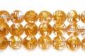 【天然石彫刻ビーズ】水晶 8mm (金浅彫り) 青龍 (一連売り)【天然石 パワーストーン】
