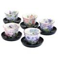 ■美濃焼ギフト■和藍 花工房茶托付煎茶