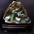 ☆高級一点物☆【天然石彫刻置物】本翡翠 (台付き) No.28【天然石 パワーストーン】