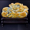 ☆高級一点物☆【天然石彫刻置物】本翡翠 (台付き) No.29【天然石 パワーストーン】
