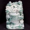 ☆高級一点物☆【天然石彫刻置物】本翡翠 (台無) No.42【天然石 パワーストーン】