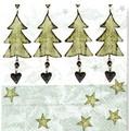 Paper+Design ペーパーナプキン <クリスマスツリー×星>