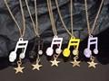 カラフル音符スカルのネックレス