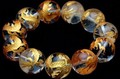 【天然石彫刻ビーズ】水晶 (金彫り) 五爪龍 (20mm) (ブレスレット/半連売り)【天然石 パワーストーン】