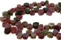 【天然石カットビーズ】トルマリン(ウォーターメロン) (天然) 平ドロップ型 約8x10mm 天然石