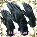 【本革】ラム皮レザーグローブ ブラック4タイプ テブクロ 婦人 革手袋