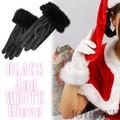 《秋冬セール》ファー付き♪ フェイクレザーショートグローブ2color【手袋/コスプレ/クリスマス】