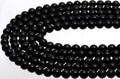 【天然石丸ビーズ】天然チベット産黒水晶(モリオン) (3A) 6mm【天然石 パワーストーン】