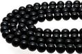 【天然石丸ビーズ】天然チベット産黒水晶(モリオン) (3A) 10mm【天然石 パワーストーン】