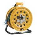 温度センサー付 電工ドラム(漏電遮断器付)30m<延長コード・防災・工具・作業・電源ケーブル>