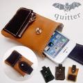 【quitter】Iphone5対応!ミニポケット付きスマートフォンケース
