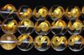 【天然石彫刻ビーズ】水晶 12mm (金彫り) 蛇 (一連売り)【天然石 パワーストーン】
