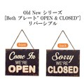 """Old New シリーズ[Both プレート"""" OPEN & CLOSED""""]リバーシブル"""