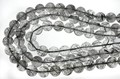【天然石丸ビーズ】ブラックルチルクォーツ (2A) 14mm【天然石 パワーストーン】