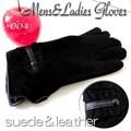 【2W】【在庫処分!】◆スエード&レザー 2トーン メンズ&レディース 手袋★LG-004