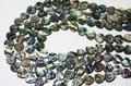 【天然石カットビーズ】アバロンシェル ハート型 約12mm【天然石 パワーストーン】