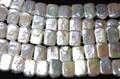 【天然石カットビーズ】淡水パール バングル型 (ホワイト) 約10×16mm【天然石 パワーストーン】