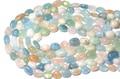 【天然石カットビーズ】マルチベリル (2A) タンブル型 (約10×14mm)【天然石 パワーストーン】