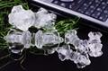 【開運&風水アイテム】密教法具 五鈷杵(ごこしょ) 水晶約50mm【天然石 パワーストーン】