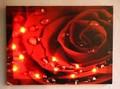 【インテリア・LEDピクチャー】大好評・ギフトにぴったり♪LED Picture Light バラと水滴