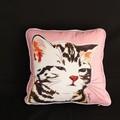 【インテリア・小物】ギフトにぴったり♪大好きアニマル! Cushion Cover ネムトラ(カバーのみ)+ネコ