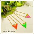 ○ ネオンカラーピラミッドWチェーンネックレス 3カラー ○