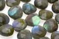 【天然石カットビーズ】ラブラドライト (最高級) マロン型カット 約9x10mm (10cm連) ★最高品質★ 天然石