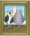 【個性的な犬と猫☆アートフレーム】カナダ男性作家 ジョーパリー「こども」出産祝い