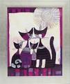 【愛らしいネコのアートフレーム】オーストリア女性作家 ロジーナ アートフレーム「絵画」「額絵」