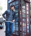 【冬物SALE】【決算特別SALE】ラムレザーライダースジャケット、 6ポケット付