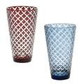 ■ガラス単品ギフト◇hishiハイボールグラス2種(赤・青)