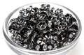 【パーツ】ロンデル 金具黒色 [100個セット]【天然石 パワーストーン】