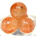 【天然石丸ビーズ】サンストーン (5A) 8mm 1粒売り【天然石 パワーストーン】
